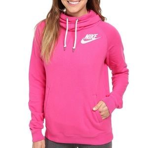 Sale! Hot pink Nike funnel neck